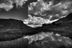 Cwmorthin Reflection (Benjamin Edwards) Tags: uk abandoned wales clouds nikon mine cottage slate snowdonia hdr d300 refelections blaenauffestiniog photomatix sliverefexpro cwmorthinbarracks