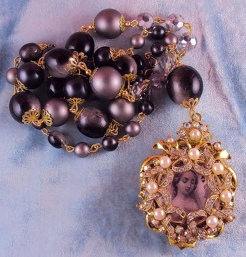 Virgin Mary Locket Shrine Necklace by inspirational