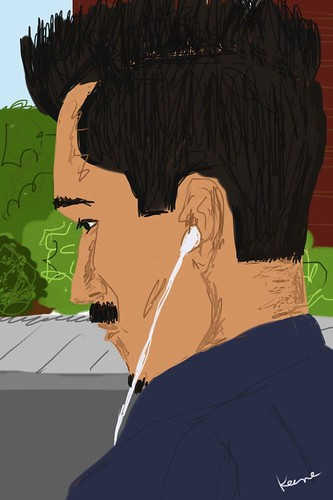 iPhone drawing (on the light rail)