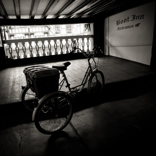 399/1000 - Bike outside the Boot Inn by Mark Carline