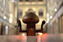 il marzianino a firenze - the little martian in florence (sharkoman) Tags: pareidolia dof firenze uffizi ferro umorismo sharkoman
