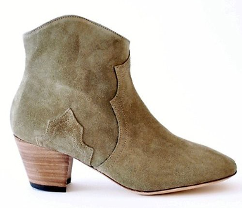 ISABEL MARANT DICKER BOOT TAUPE1A