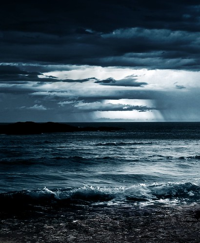 [Free Image] Nature / Landscape, Sea, Coast, Dark Clouds, 201106161900