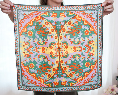 Vintage 1970s psychedelic square scarf