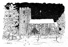 "Line drawing for church Christmas card • <a style=""font-size:0.8em;"" href=""http://www.flickr.com/photos/64357681@N04/5866050217/"" target=""_blank"">View on Flickr</a>"