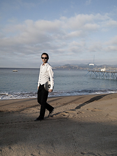 Cannes man walking