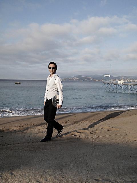 Cannes man walking