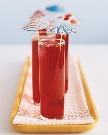 4th of July Ideas - drink parasols from MarthaStewart