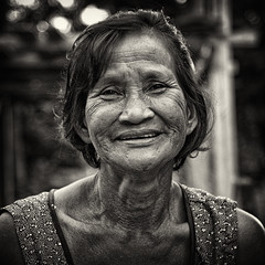 Beauty is timeless (Mat aka  ) Tags: from portrait people blackandwhite bw india black art 120 6x6 film coffee sepia rolleiflex zeiss canon mediumformat square t thailand 50mm this countryside singapore walks view little photos kodak iso400 bangkok or trix poor tracks happiness 120film iso hasselblad 400 squareformat carl kodaktrix oldlady everyone aged member analogue asa littleindia oldpeople et f4 bnw isaan favelas fle distagon whiteblack issan deformity oneleg oldportrait oldperson hasselblad500 rolleiflexslx 503cxi squareimages whitebwnoir elitegalleryaoi blancnbrailwayrailway artprortrait