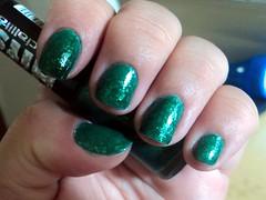 Samba, Ana Hickmann + Samba, Hits (thaisfartes) Tags: verde samba nail nails hits nailpolish unhas unha esmalte anahickmann flocado flakies