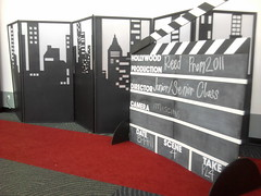 Photo Op Hollywood Theme Again (Celadon Events) Tags: wedding decorations cityscape events flats hollywood weddings decor clapboard centerpieces customwork ceilingtreatment