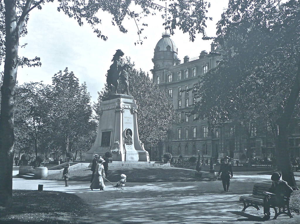 Dominion Square, Montreal 1915 by Montreal Photo Daily, on Flickr