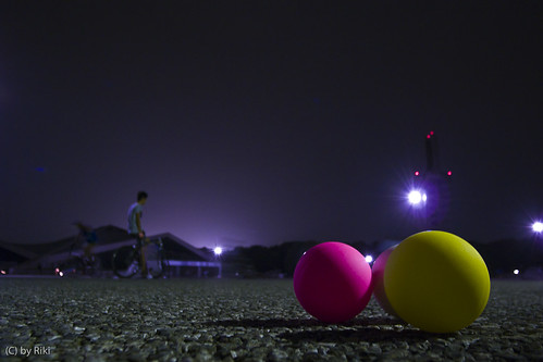 color balls in night games