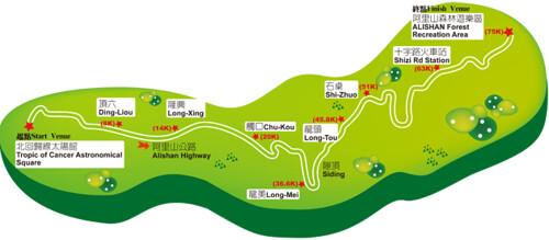 2011 TUAA 阿里山路線圖