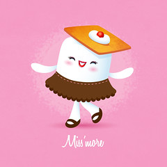 Miss'more (Jerrod Maruyama) Tags: cute dessert marshmallow kawaii sweets smores cracker graham
