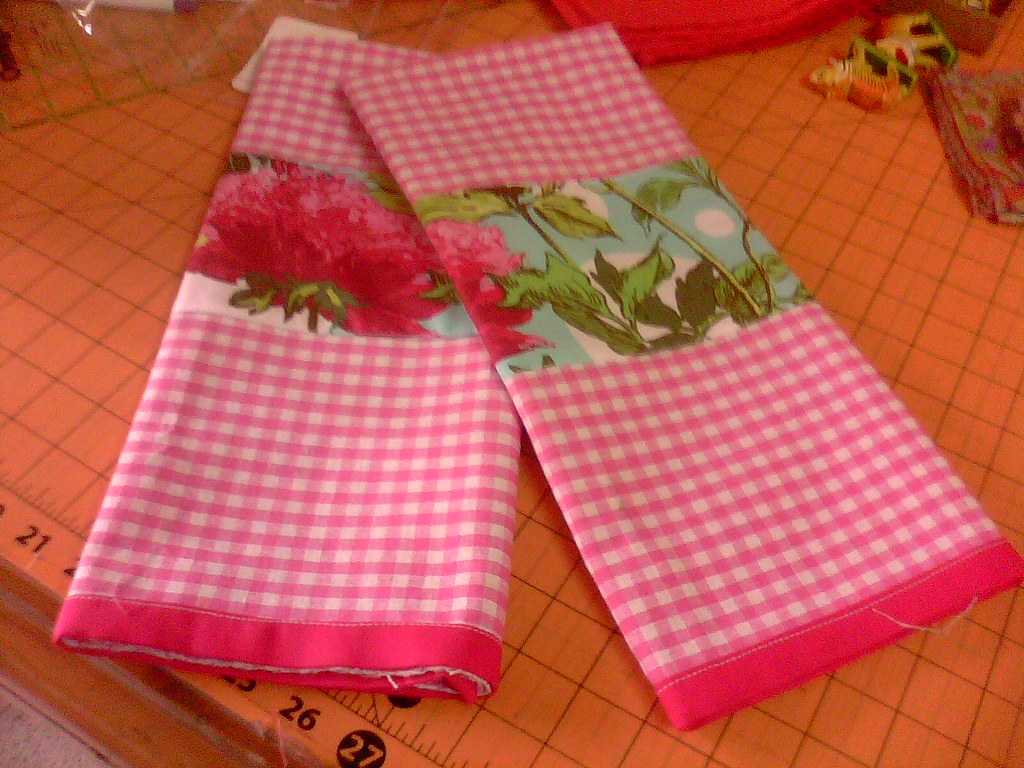 Pink Dishtowels...