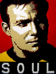 "Going Boldly... 30""x40"" (Dave Shaddix) Tags: startrek lego mosaic william kirk shatner"