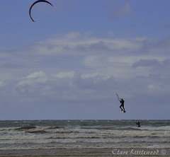 Lahinch Kite (clarelittlewood) Tags: sea kite beach water sand surf clare surfer lahinch littlewood