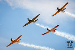 T-6 Texans / Harvards (Mick Clarke Photography) Tags: old sky plane canon vintage eos fly flying fighter aircraft aviation military air tail flight wing jet engine cockpit aeroplane landing ww2 bomber airborne propeller takeoff pilot warbird radial 50d snakeoilimages