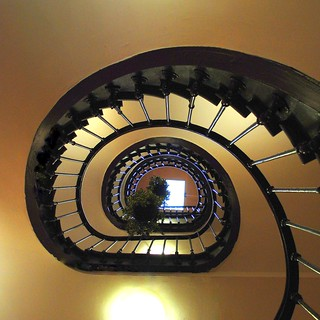 upward the staircase