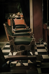 dr follicles barber shop, melbourne (natedregerphoto) Tags: classic night 35mm dark nikon australia melbourne victoria barbershop f28 tilefloor oldtime favorited barberchair swanstreet iso6400 52mm35mmequiv vsco d7000 drfollicles 0mmf0