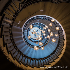 Brewer Staircase (wellsie82) Tags: city travel light urban travelling london architecture stairs canon dark circle photography eos lights pattern bokeh circles patterns capital curves steps streetphotography structure staircase round swirl curve tottenhamcourtroad bannister cityoflondon photogenic stairrail 6d jasonwells heals venetianpalazzo 24105mm capitalofengland brewerstaircase wellsie82 thebrewerstaircase wwwjasonwellscouk jasonwellscouk thehealsbuilding