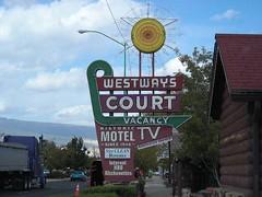 Cool signage in Utah. (Katorina) Tags: vintagemotelsigns westwayscourtutahcooloutdoorneonsigns