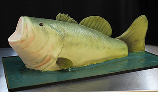 Bass Fish Cake med