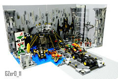 LEGO Batcave MOC (Left View) (GZer0_11) Tags: lego batman dc comics super heroes superheroes moc own creation batcave batcomputer joker card abraham lincoln coin trex dinosaur costume glasses training boxing elevator rock stone batmobile batpod batbike motorbike batwing robot batrobot giant batboat submarine vehicle characters character stairs bruce wayne robin dick grayson flying nightwing new 52 jason todd red hood tim drake redrobin damian batgirl oracle barbara gordon alfred pennyworth butler