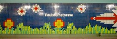Paulsternstrasse (daniel_james) Tags: 2016 berlin germany europe canon1022mm ubahn subway metro train underground station paulsternstrase colourful tiles 31