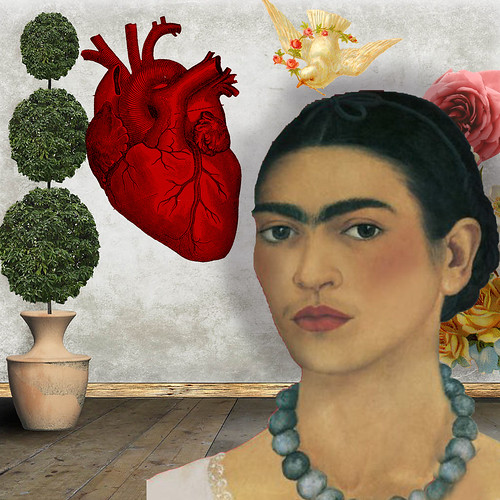 Frida and The Heart-in The style of Frida by Queen Be-Lynne Larkin