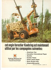 KH3B ad 1971 (The Koehring Guy) Tags: wood short loader harvester feller buncher koehring delimber kh3d