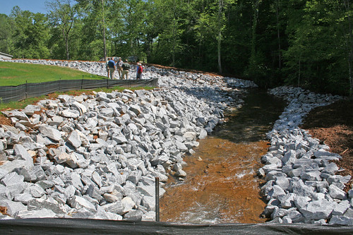 The finished dam.