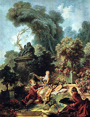 'The Lover Crowned' Jean-Honor Fragonard, 1771-1772 (pheli) Tags: art painting 18thcentury rococo 1700s 1772 1771 jeanhonorfragonard thelovercrowned