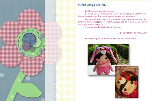 Minha Amiga Crafter by Sil Artesanato