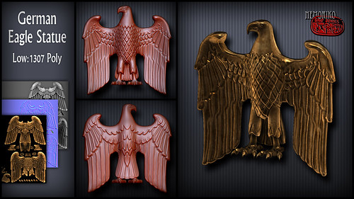 "German Eagle Statue [ by nemoriko ] • <a style=""font-size:0.8em;"" href=""http://www.flickr.com/photos/29628042@N05/14045956277/"" target=""_blank"">View on Flickr</a>"