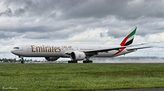 Emirates 777-300ER (HDR) A6-EBO (birrlad) Tags: dublin rain weather airplane airport dubai aircraft aviation airplanes bad emirates airline 28 boeing airways airlines airborne departure effect takeoff 777 runway dub hdr airliner departing 777300er 77736ner a6ebo