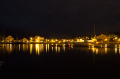 Grimstad at Night (Ludvius) Tags: city norway by night norge town natt grimstad austagder ludovicophotography wwwludovicophotocom