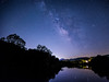 Milky Way over the James (Explored) (Michael Kline) Tags: may va nightsky jamesriver milkyway 2014 meteorshower