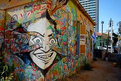 All Eyes On Us (cowyeow) Tags: street urban house streetart building art face wall painting fun graffiti israel telaviv scary eyes funny decay painted urbandecay watching middleeast wallart creepy funnysign