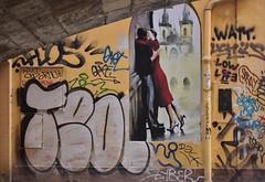 THE KISS  By Angela Wilson (angelawilson2222) Tags: kiss art work graffiti underpass bridge paint image window couple relationship wallart prague czech republic nikon angela wilson streetlife street
