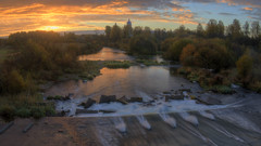 right time right place right action (Sergey S Ponomarev - very busy) Tags: sergeyponomarev canon eos 70d nature natura landscape paysage paesaggio kirov nizhneivkino church sunrise dawn october ottobre water river longexposure le viatka vyatka wjatka hdr autumn fall forest woods zenit zenitar zenith fisheye russia russie north nord