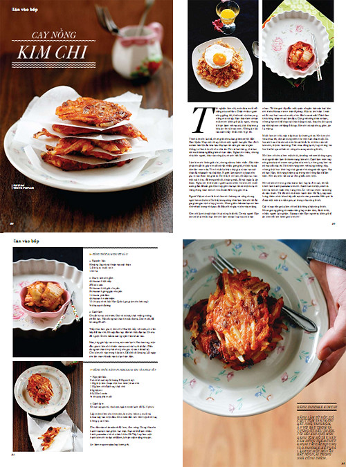 Layout for kimchi article