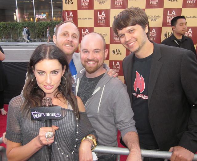 "Samantha Gutstadt, Mike Akel, Matt Patterson, Richard C. Jones, ""An Ordinary Family"",Opening Night LA Film Festival 2011"