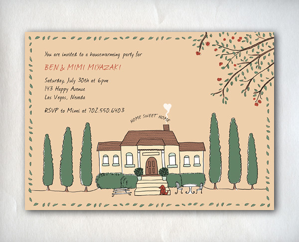 HouseWarming_Brown_Layout, Moving Announcements, We've Moved, New Address Notice, Updating Information, Housewarming Party Invitation, Open House Invitations, Personalized Party Invitation, Birthday Invitation Designs, Fabulous Invitation Designs, DIY Party Design Invitations, Personalized Invitations