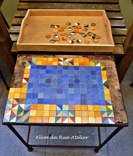 reciclagem de mesa - antes