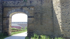 Railroad Entrance (Dave Garvin) Tags: old railroad state michigan arts jackson southern prison armory