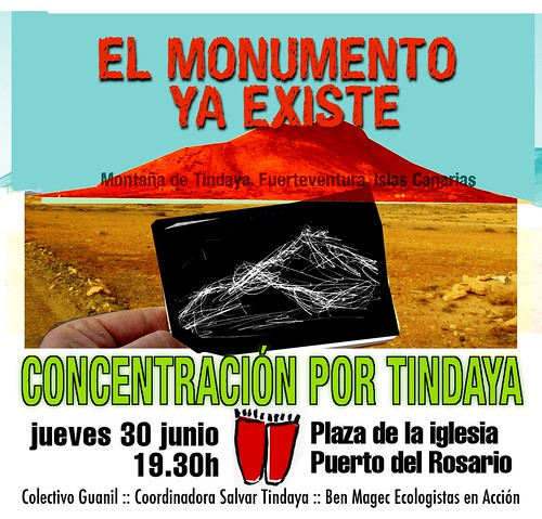 Cartel Tindaya junio 2011