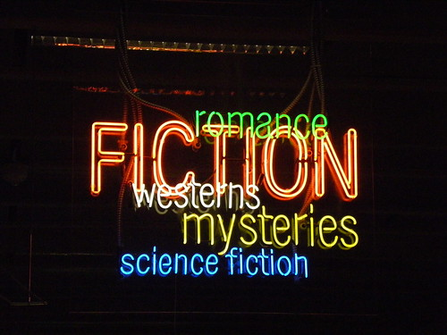 Fiction/genre sign - Burton Barr Central Library, Phoenix Public Library