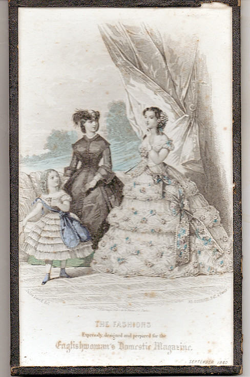 September 1860 Fashions from English Domestic Magazine